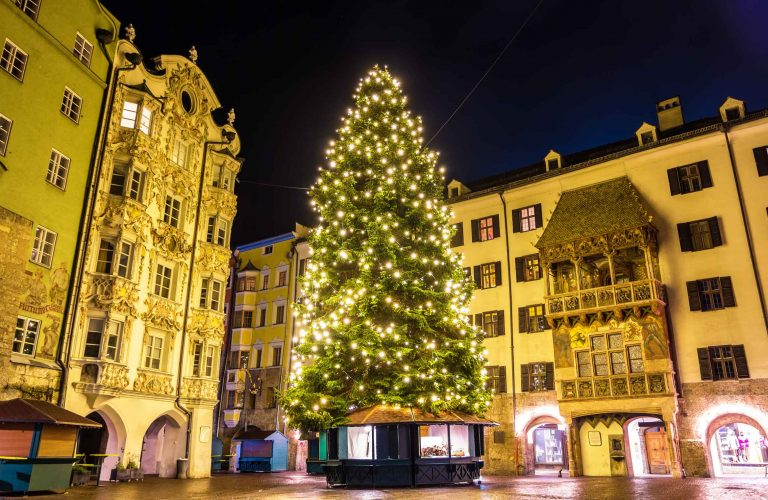 Christmas tree in the city centre of Innsbruck - Austria